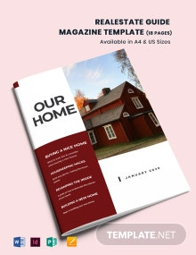 Real Estate Guide Magazine Template