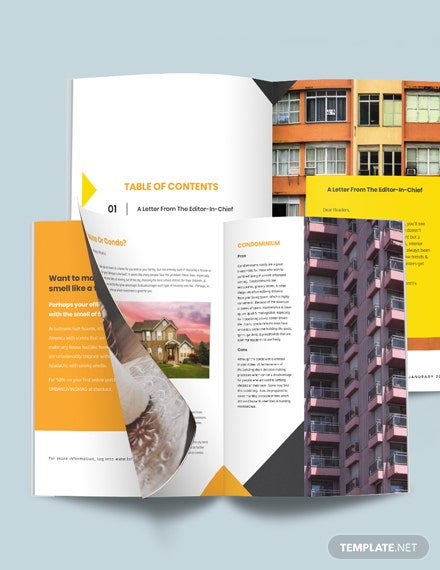 Real Estate Magazine Template For clients