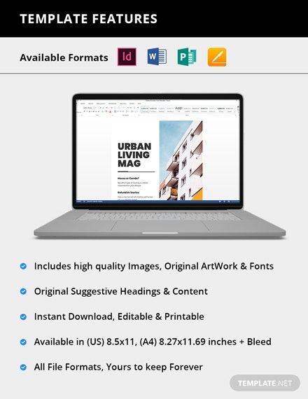 Simple Real Estate Magazine Template For clients