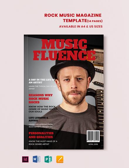 Rock Music Magazine Template