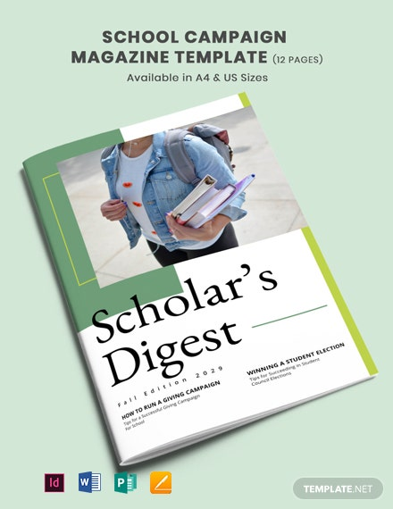 School Campaign Magazine Template