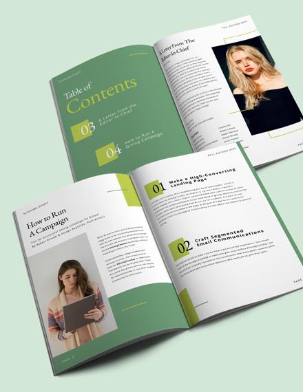 School Campaign Magazine Template