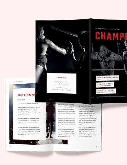Sample Sports Article Magazine