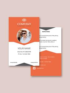 Sample Company ID Card Template