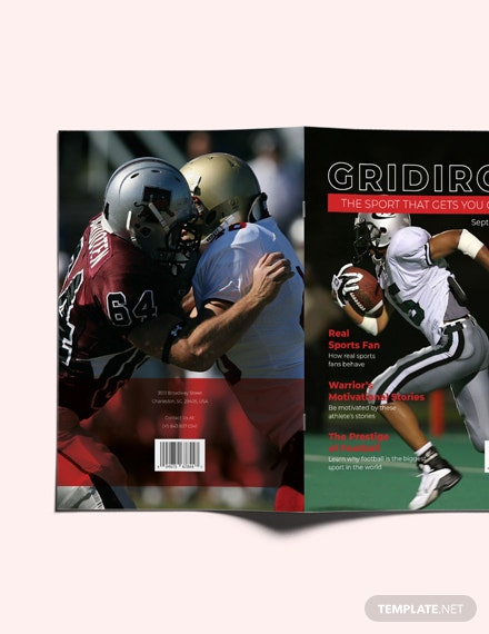 Sample Sports Magazine Layout