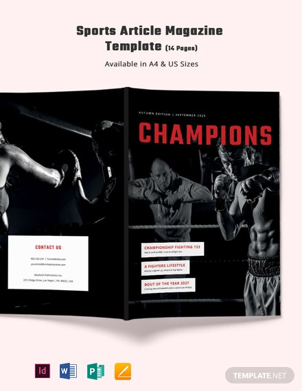 Sports Magazine Layout Template