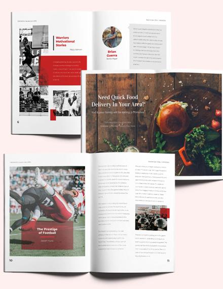Sports Magazine Layout Download