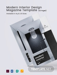 Free Modern Interior Design Magazine Template
