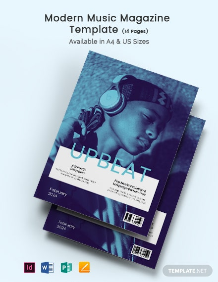 Free Modern Music Magazine Template