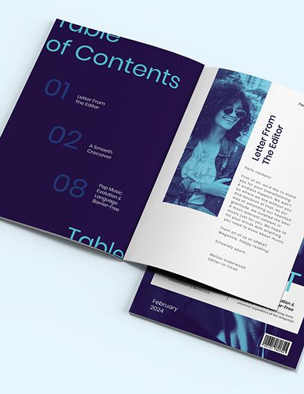 Modern Music Magazine Template