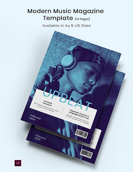 Free Modern Music Magazine Template