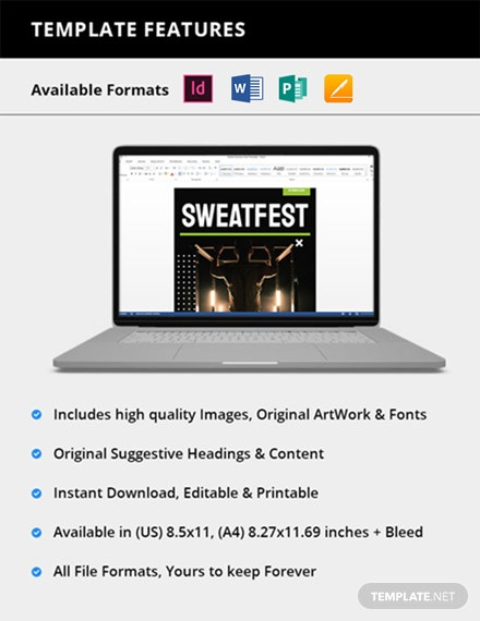 Sample Sports Magazine Template [Free Publisher] - InDesign, Word, Apple Pages