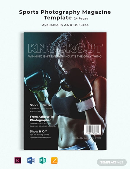 Sports Photography Magazine Template