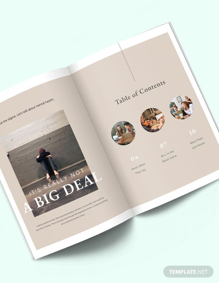 Student Annual Magazine Template