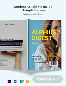 Student Article Magazine Template