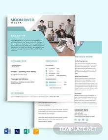 2 Page Media Kit Template