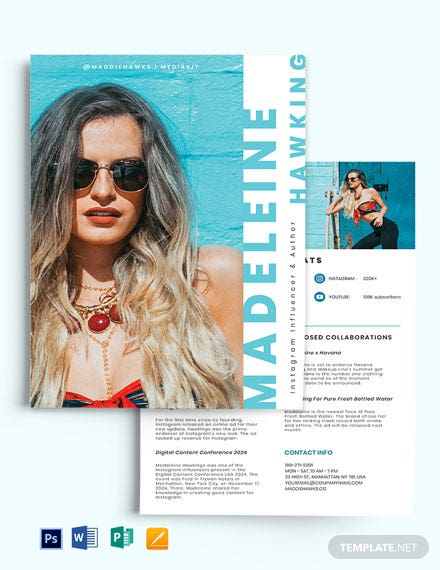 Instagram Influencer Media Kit  Template