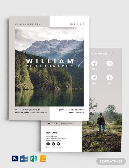 Photographer Influencer Media Kit Template