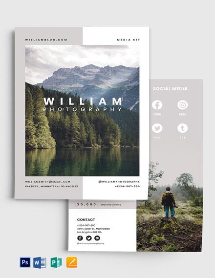 Photographer Influencer Media Kit Template
