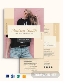 Social Media Influencer Media Kit Template