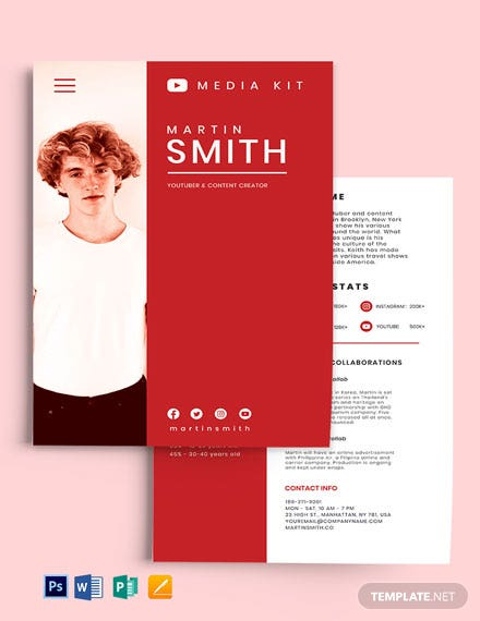 YouTube Media Kit Template