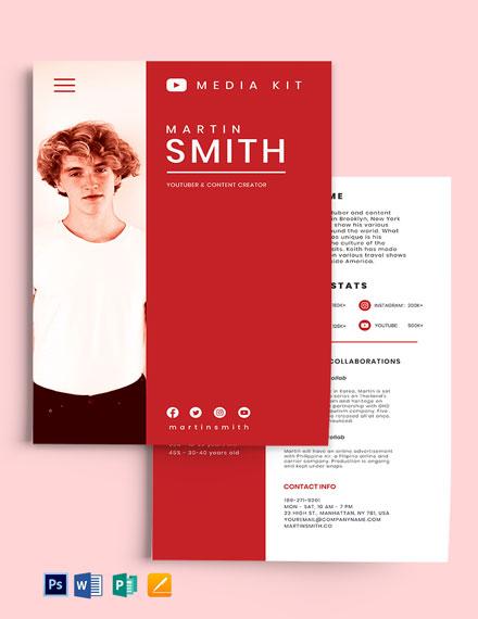 YouTube Media Kit Template