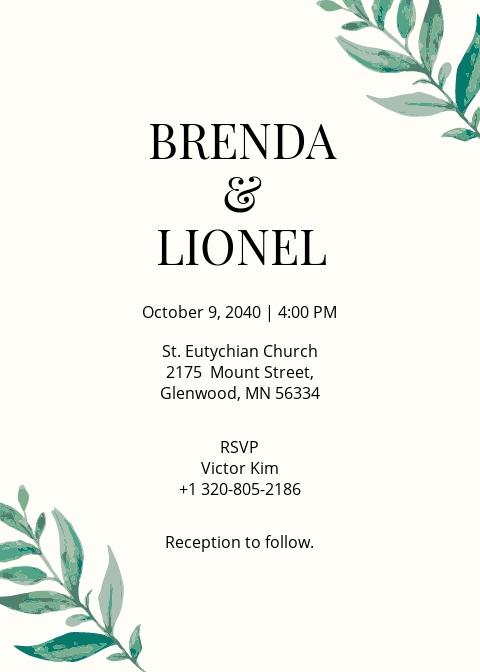 Hip Wedding Invitation Template