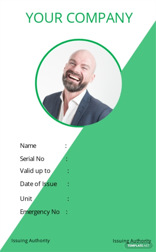 Staff Blank ID Card Template