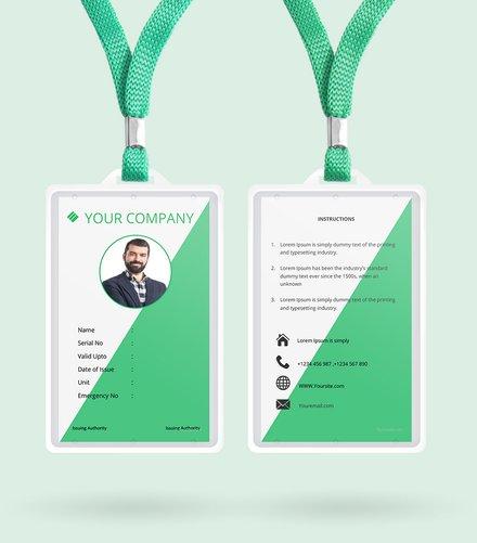Staff Blank ID Card Template