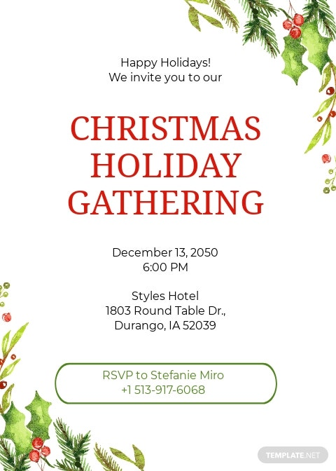 Holiday Invitation Template