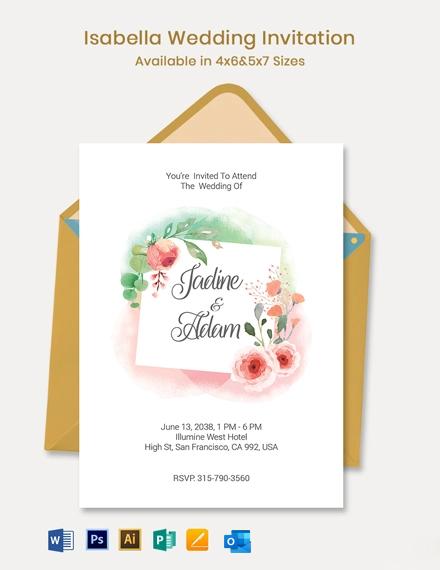 Isabella Wedding Invitation Template