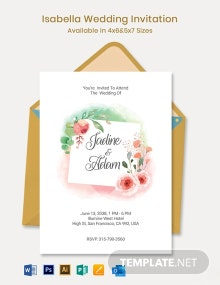 Isabella Wedding Invitation Template