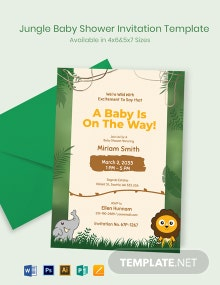 Jungle Baby Shower Invitation Template