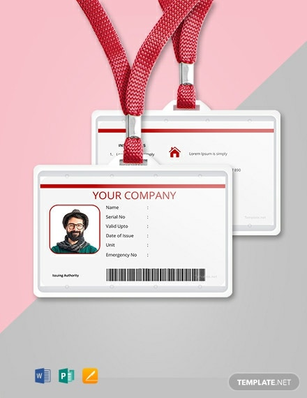Free Vertical Blank ID Card Template