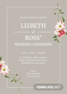 Lizbeth Wedding Invitation Template