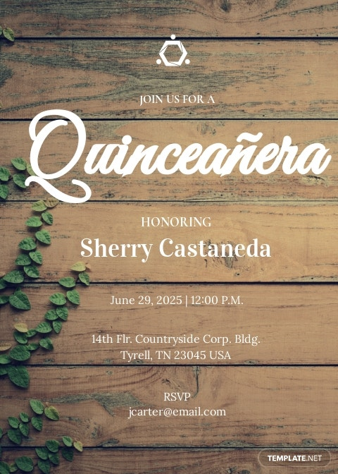 Rustic Quinceanera Invitation Template .jpe