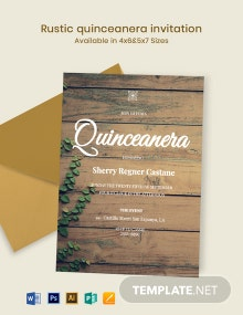 Rustic Quinceanera Invitation Template