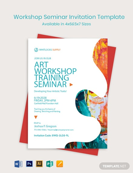 Workshop Seminar Invitation Template