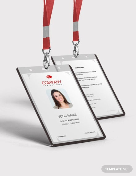 Free Worker ID Card Template