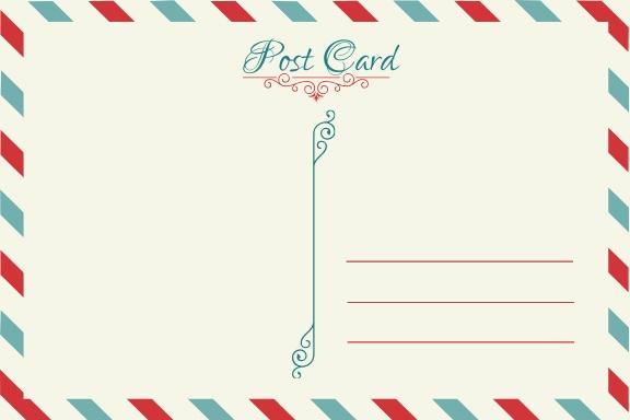 Free Blank Postcard Template