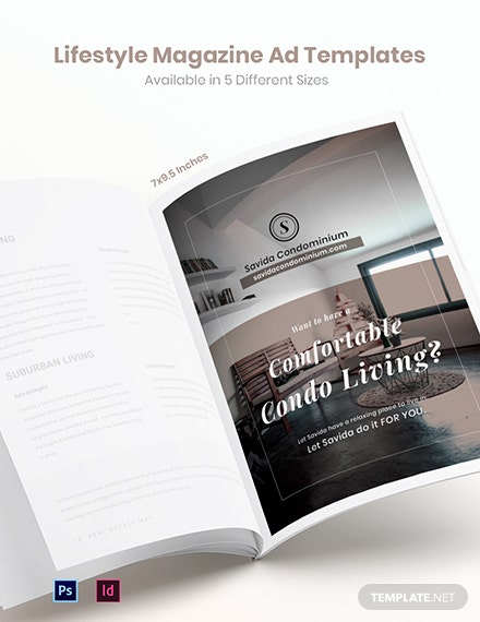 Free Lifestyle Magazine Ads Template