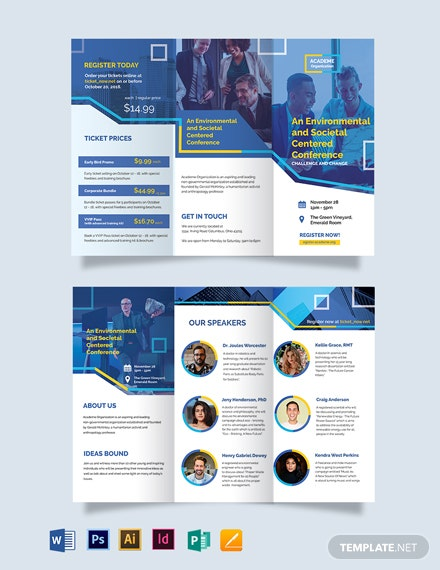 International Conference Tri-Fold Brochure Template