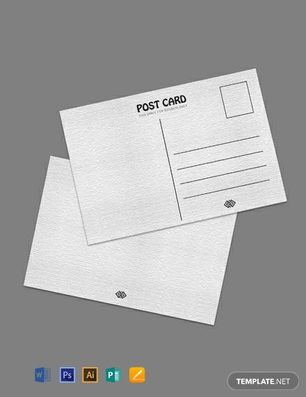 Free Blank Printable Postcard Template