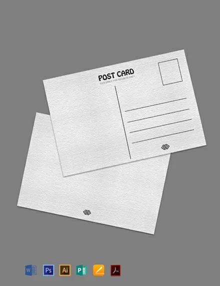 Free Blank Printable Postcard Template