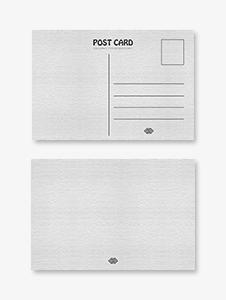 Blank Printable Postcard Template
