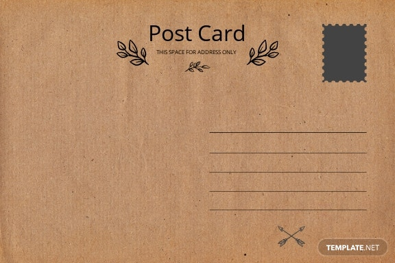 Blank Vintage Postcard Template