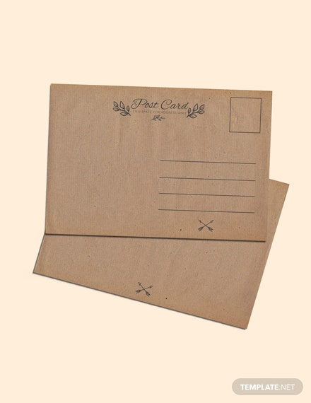Free Blank Vintage Postcard Template Download 87 Postcards In Psd