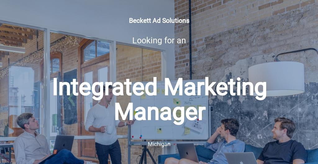 Integrated Marketing Manager Job Description Template