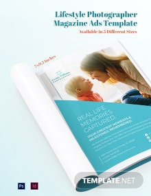 Free Lifestyle Photographer Magazine Ads Template