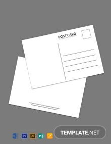 Free Blank White Index Postcard Template